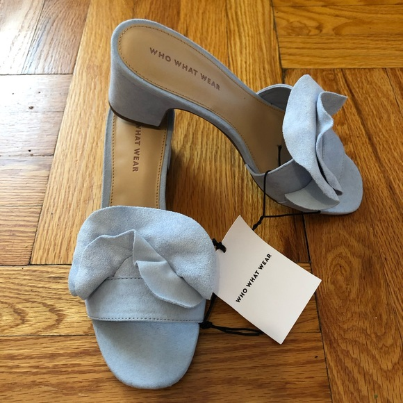 401e5f189 Who What Where Zadie Blue heeled Sandal 7.5